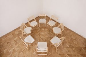 circle of chairs for group sessions